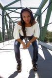 3 όμορφο κορίτσι Αϊτινός υπ&alpha Στοκ Εικόνα