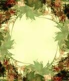 3 абстрактных цветка обрамляют фото Стоковое Изображение