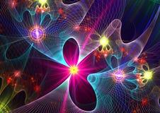 3 абстрактных multicolor формы Стоковые Изображения
