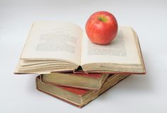 3 античных книги Стоковое Фото