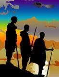 3 Африка укомплектовывают личным составом Стоковые Изображения
