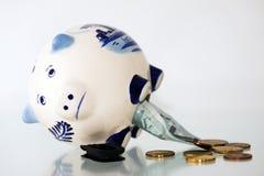 3 банк голубой delft piggy Стоковые Фотографии RF