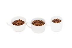 3 белых чашки Стоковая Фотография RF