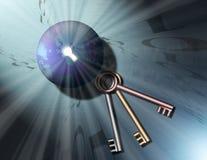 3 бинарных ключа глобуса к Стоковое Фото