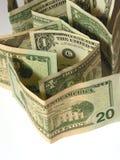 3 близких доллара вверх Стоковые Изображения