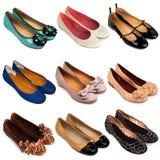 3 ботинка балета плоских Стоковая Фотография RF
