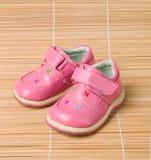 3 ботинка bamboo детей розовых s Стоковое фото RF