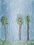 3 вала на краю пущи. иллюстрация штока