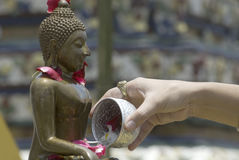 3 ванна Будда Стоковое Фото