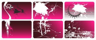 3 визитной карточки Стоковые Фото