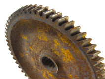 3 выщербили ржавое колесо Стоковое Фото