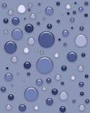 3 голубых кнопки d иллюстрация вектора