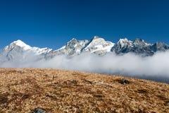 3 горы облаков Стоковые Изображения RF