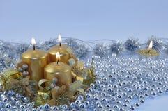 3 горящих свечки Стоковое фото RF