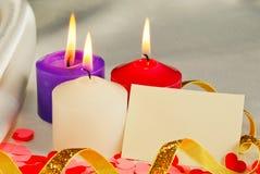 3 горящих свечки Стоковые Фотографии RF