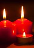 3 горящих свечки Стоковые Изображения