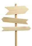 3 деревянных стрелки Стоковые Изображения