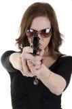 3 детеныша женщины пушки Стоковые Фотографии RF