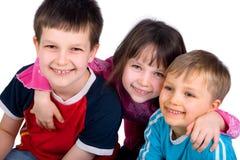 3 дет счастливого Стоковые Фото