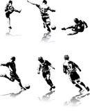 3 диаграммы футбол Стоковые Фото