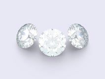 3 диаманта Стоковые Фотографии RF