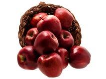 3 еда корзины 4 яблок стоковая фотография