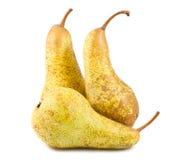 3 желтых зрелых груши Стоковая Фотография
