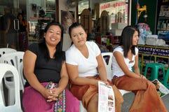 3 женщины Таиланда patong masseurs стоковая фотография rf