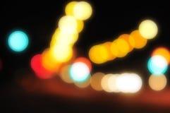 3 запачканных света города Стоковые Изображения