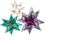 3 звезды origami от тесемки Стоковые Изображения RF