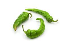 3 зеленых перца Стоковое Изображение RF