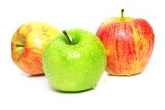 3 зрелого яблок сочных Стоковое Фото