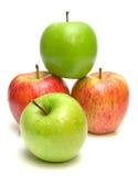 3 зрелого яблок сочных Стоковая Фотография