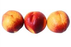 3 зрелых персика Стоковые Изображения