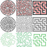 3 изменения разрешений головоломки лабиринта установленных иллюстрация штока