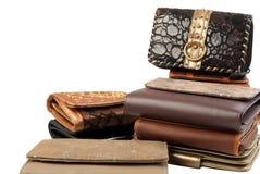 3 изолированных бумажника стога Стоковое Фото