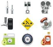 3 иконы автомобиля разделяют обслуживание Стоковая Фотография RF