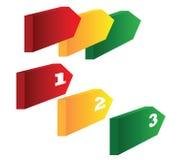 3 иконы шагов Стоковое Изображение RF
