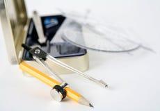 3 инструмента офиса Стоковое Фото