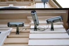 3 камеры слежения cctv Стоковые Фото