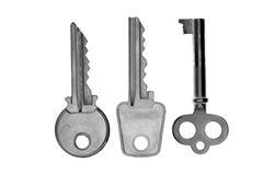 3 ключа металла Стоковое фото RF