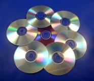 3 компактного диска предпосылки Стоковая Фотография RF