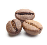 3 кофейного зерна на белизне Стоковое фото RF
