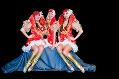 3 красивейших женщины в платьях Стоковая Фотография RF