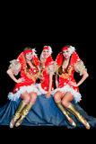 3 красивейших женщины в платьях Стоковые Фото