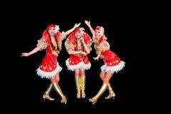 3 красивейших женщины в платьях Стоковые Изображения RF