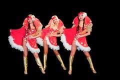 3 красивейших женщины в платьях Стоковое Изображение