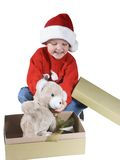 3 мальчик santa Стоковые Фото
