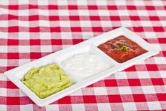 3 мексиканских dips Стоковые Изображения