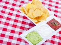 3 мексиканских dips Стоковое Изображение